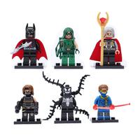 6pcs Super Heroes Mini figures Building Block Sets Toys Batman cyclops odin venomwinter soldier green arrow Compatible with Lego