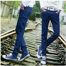 2014 Korean version of men's jeans Slim skinny pants Slim Men's Jeans(China (Mainland))