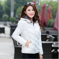 2014 new winter small coat, ladies short paragraph, feather padded jacket, Slim