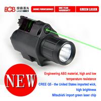 Free Shipping 200 Lumen Tactical Green Laser Flashlight Combo & 5mw Green Laser Sight for Pistol flashlings gun(BOB-JGSD-G)