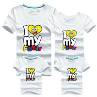 l Jiezhuang paragraph 2014 for a family of three female women's T-shirt cartoon parent-child loaded short sleeve T-shirt
