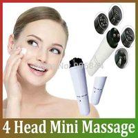 2014 New 4 head Mini Massage Device Pen Type Electric Eye Massager Facials Great Vibration Thin Face Massage Stick Free Shipping