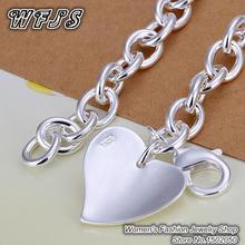 H279 Free Shipping Latest Women Classy Design 925 silver bracelet Factory Direct Sale Double love bracelets