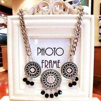 Bohemia Ethnic Sliver Drop Choker Collar Tassel Bib Statement Necklaces & Pendants New 2014 Fashion Jewelry Women Wholesale N186