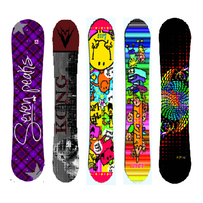 Full size (100-139cm) Children Kids Junior All Terrian All Mountain Snowboard Monoboard Freestyle(China (Mainland))