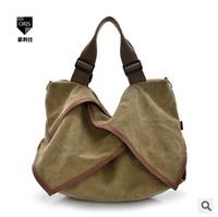 New arrival 2014 bag for woman fashion big canvas shoulder bags lady geometry handbag