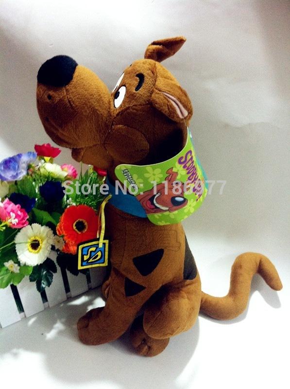 35cm Cartoon Network Scooby Doo Plush Scooby Doo Stuffed Animal Dog Toy 1pc Free Shipping(China (Mainland))