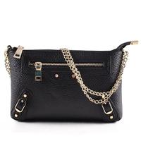 Genuine Leather Women Day Clutch Cow Leather Handbag Chain Shoulder Bag Women Clutch HB-220