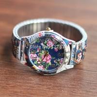 Silicone Flower Watch For Ladies Women Dress Watch Quartz Watches