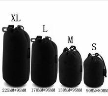 free shipping 4 pcs Size XL L M S  Neoprene Soft Camera Lens Pouch bag Case waterproof