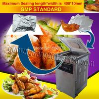 Plastic bag vacuum shrinking sealer,package heat sealing shrinker,air pump packaging machine to food electronics,stainless DZ400