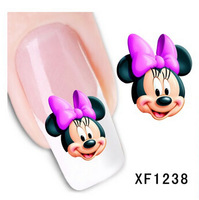 Fashion 1 Sheets 3D Design cute DIY cartoon colorful diamonds Tip Nail Art Nail Sticker Nails Decal  Manicure nail tools XF1238