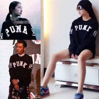 Gd xpx Unisex lovers black loose sweatshirt  Star model Tide brand fashion 2ne1 dara hoodie woman Roommate loose coat