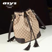 European and American fashion handbags fringed bag diagonal retro bucket bag handbag shoulder bag woman