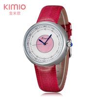 Relogios New Women watches 2014 Famous Brand KIMIO Leather clock women Japan Quartz wrist watch Casual Diamond ladies watches