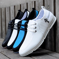Men's Casual Shoes Fashion Brand PU Leather Lace-up Sneakers for men 4 colors