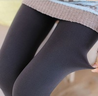 High waist panty autumn outfit and thickening outside wear women's autumn/winter show little feet pants big yards