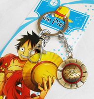 20 PCS/lot  One Piece Luffy Skeleton Straw Ace Hat  Key Chains Cosplay Free shipping