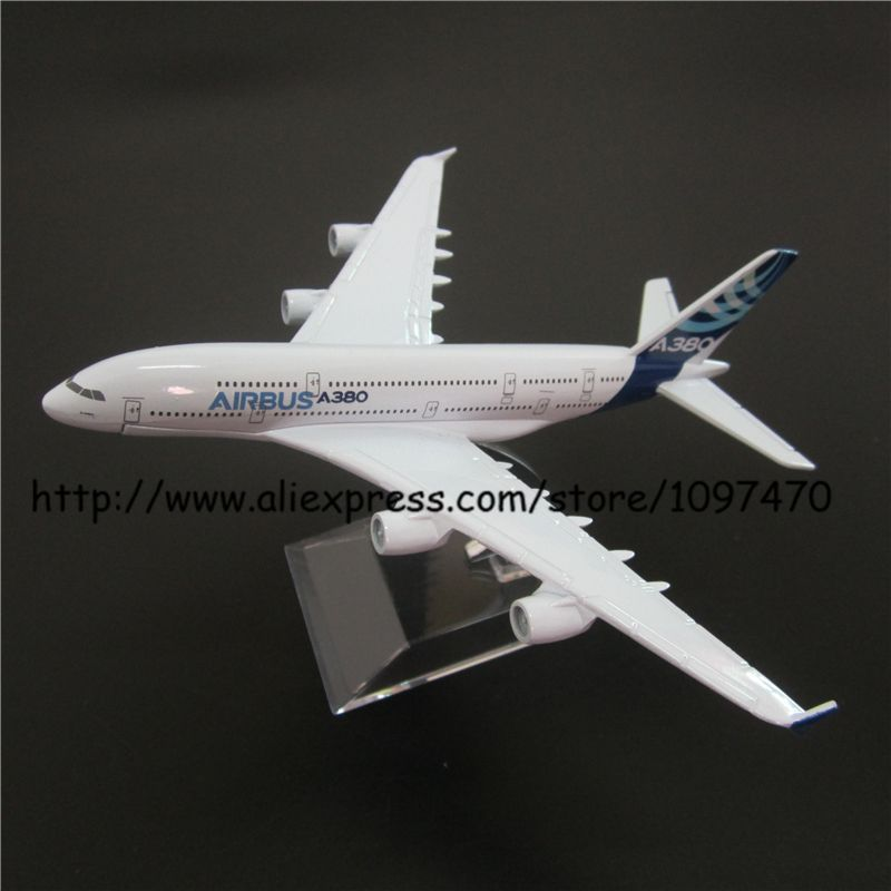 16cm Metal Alloy Air Prototype Airbus 380 A380 Airlines Plane Model ProtoMech Development Aircraft Airplane Model w Stand Toy(China (Mainland))