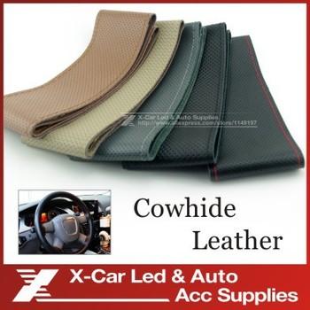 Горячая распродажа популярные нью-diy авто натуральная кожа с отверстием размер M 37 - 38 см черный / серый / коричневый / бежевый