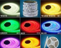 5pcs 5m 300 LED 3528 SMD 12V flexible light 60 led/m,LED strip white/warm white/blue/green/red/yellow free shipping