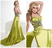 Halter Spaghetti Strap Party Dresses Elegant Vestidos with Train Shining Sequined vestidos de festa Evening Dresses