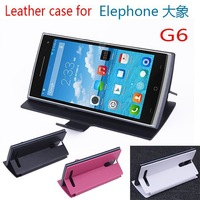 Free shipping For Elephone G6 Slim Magnetic Closure right left flip Flip Leather Case