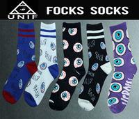 Free shipping Harajuku elite big eyes odd future socks marijuana style long happy socks streets skate dead fly socks 083w