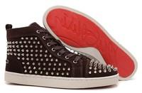 CL origianl punk genuine leather outdoor leisure rivet hedgehog banquet men and women lovers sneakers,EUR35-45,brand shoes