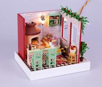 Dollhouse assembly doll house fully furnished LED lights,Dollhouse Miniature,Building Model Making,diy handmade hut kit