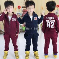 2014 autumn digital child clothing boys fleece sports casual set fashion child sets children clothing free shipping