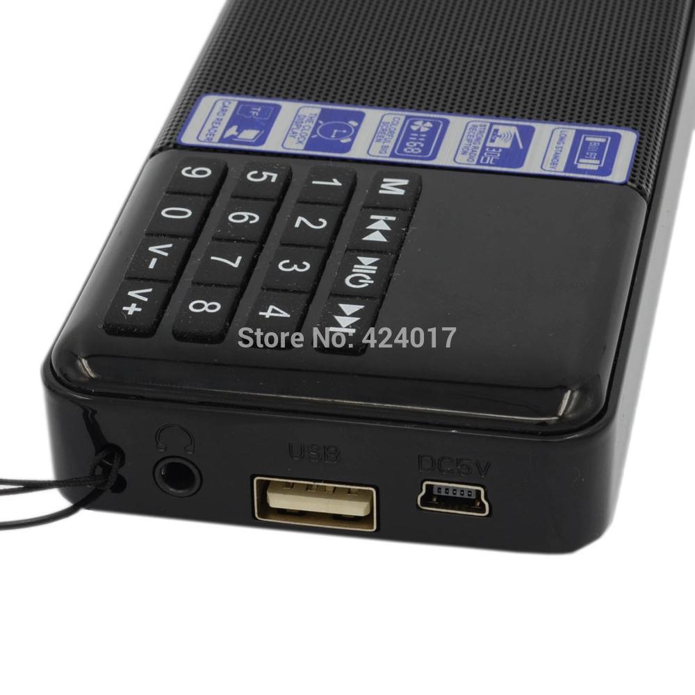 Portable Mini Lcd Digital Micro FM Radio Speaker USB TF Mp3 Alarm Clock Player