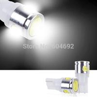 FreeShippingNew 5X T10 White Wedge 168 W5W 4SMD 2.5W Car LED Light Bulbs Lamp High Power