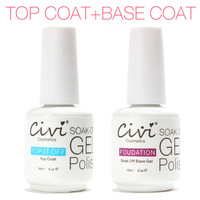 Civi Diamond Nail Gel Top Coat Top it off + Base Coat Foundation for UV Gel Polish Best on Aliexpress 15ml