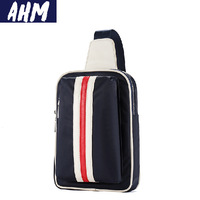 Free shipping AHM(TM) Vintage Nylon Man Bag Travel Chest Messenger Shoulder Bag Travel Utility Work Bag Messenger Bag A012
