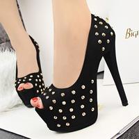 Hot selling women High Heels open peep Toe leisure shoes women pumps platform sandals big plus