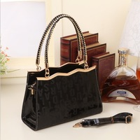 2013 new fall handbag patent leather handbag shaped messenger bag a generation of fat
