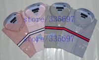 100% cotton good quality Brand mens casual dress long sleeve slim fit shirt social stripes and plaid male shirt Men's dress