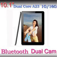 Bluetooth!! 1.5GHZ HD Tablet 1024*600 Android 4.4 1GB /16GB Dual Core Allwinner A23 Dual camera 10'' tablet pc+U8 Pro Wristwatch