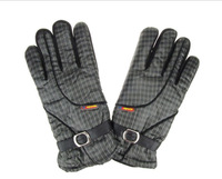 Winter Warm  Grid stripe gloves Outdoor Sports  Riding Bicycle Motorcycle Electric Gloves