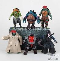 Wholesale 50set New Movie Teenage Mutant Ninja Turtles Action Figures 6PCS/Set PVC Cool TMNT Collection Toys Gift