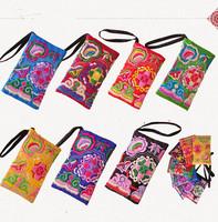2014 New brand casua Women Wallet Embroider Purse Clutch embroidery Coin Bag wallets carteira feminina bolsos monederos mujer