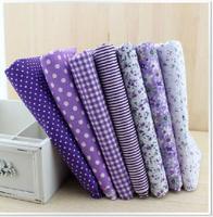 Purple Series 7 Piece 50cm*50cm 100% Cotton quilt Fabric, Patchwork  Fabric for Sewing Diy Tilda doll Cloth,Fat Quarters