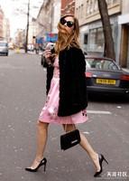 2014 Europe Fashion Women's Fur Coat Faux Overcoat Warm Winter Down Coat women leather jacket Black and White Plus size S-5XL