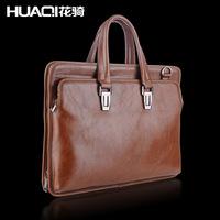 2014 Silt Pocket Rushed Hot Sale Handbag Men Brand Contracted Retro Business Leisure Cow Leather Handmade Handbags Shoulder Bag