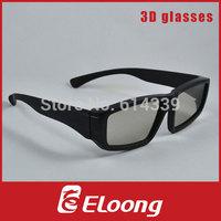 Eloong Plastic linear polarized 3D Glasses 50pcs/lot Free shipping GPL001L