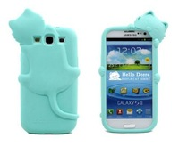 Baby Blue Lovely Kiki Cat Silicone Case Cover for Samsung Galaxy S3 I9300