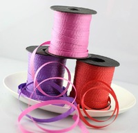 4pcs/set 5mm*180mm Balloon coloured ribbon favors decoration rope Balloons Ribbons Party Wedding Birthday Decoration Accessories