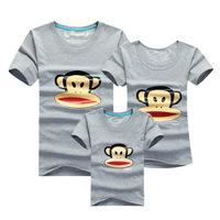 new summer big code loaded parent-child full Jiezhuang couples dress T-shirt a generation of fat monkey 2 class service