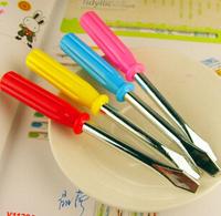 Creative stationery wholesale 36pcs blue ink cartoon novelty screw driver ballpoint ball pen school children kids prize gift toy
